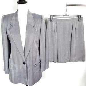 Vintage 1990's Worthington Skirt Suit Herringbone